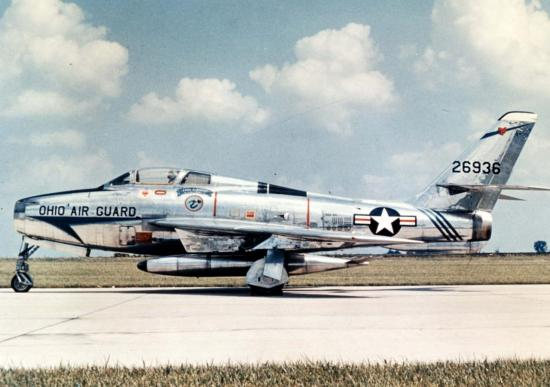 F-84F-55-RE s/n  52-6936 Ohio Air National Guard