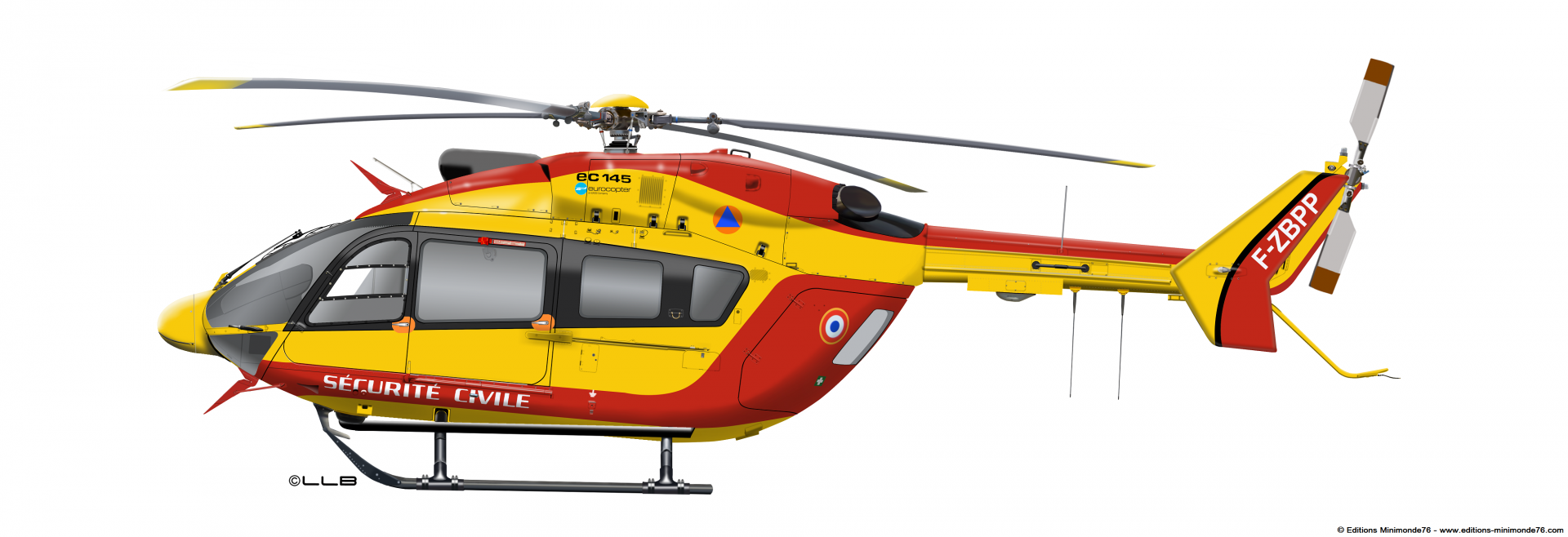 Ec145 securite civile dragon 76